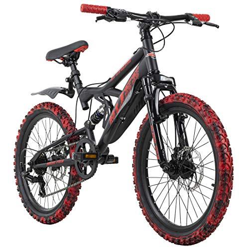 KS Cycling Bliss Pro Vélo VTT 20' pour Enfant Noir/Rouge RH 33 cm 20'