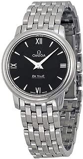 DeVille Prestige Black Dial Stainless Steel Ladies Watch 42410276001001