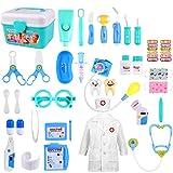 GVOO Juguetes Médicos,37 PSC Doctor Juguetes Maletín de Médico Juegos de Médicos Juego de rol Cosplay de Médico para Niños