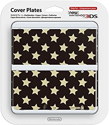 New Nintendo 3DS Coverplate - Black Stars