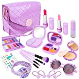 Meland Pretend Play Makeup for Girls - 22PCS Kids Fake-Makeup Toy & First Play Purse Set, Princess Birthday for Toddler Little Girls