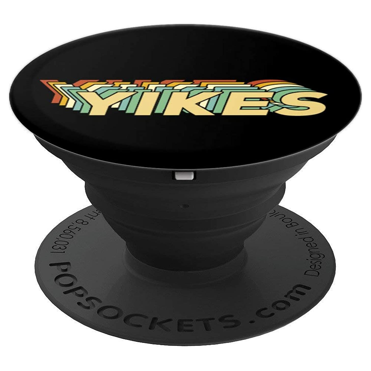 Yikes Pop-Socket Funny Retro 70s 80s Birthday Christmas Gift - PopSockets Grip and Stand for Phones and Tablets