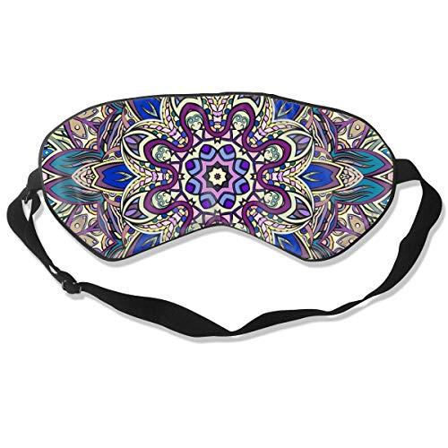 Preisvergleich Produktbild Colorful Doodle Symmetry Textur Gebogenes Kritzelmotiv Optimale Schlafmaske für Augenmaske,  geeignet für Reisen,  Nickerchen,  Meditation,  Augenmaske mit verstellbarem Riemen,  männlich,  weiblich