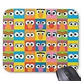 Accesorios de ordenador anti-fricción pulsera Sésamo Street Character Eyes Pattern Mouse Pad 18X22