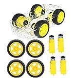 Kit de chasis de automóvil, kit de sujeción de motor de rueda de neumático de automóvil de plástico Piezas de repuesto Accesorios para automóvil inteligente para niños Adolescentes