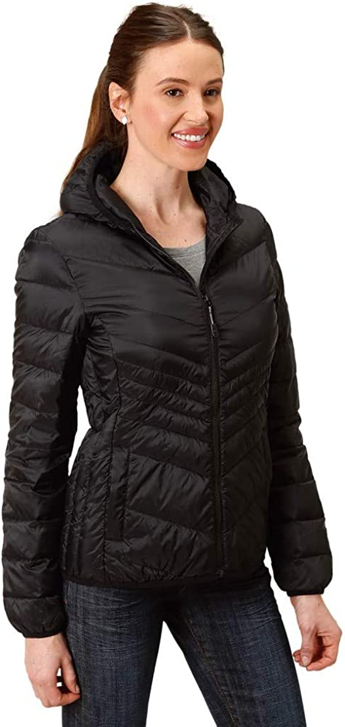 Roper Western Jacket Womens Down Chevron Quilted 03-098-0693-6113 BL