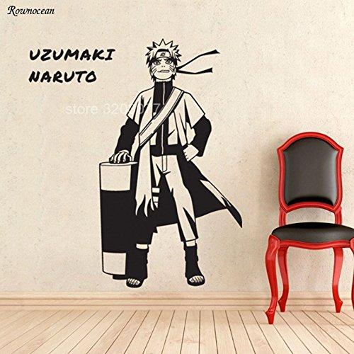 jiushizq Anime japonés de Dibujos Animados Etiqueta de La Pared Whirlpool Decoración para El Hogar para Niños Niños Habitación Dormitorio Calcomanías Extraíbles Mural Wallpaper M 42x49 cm