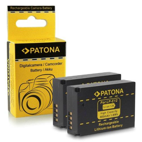 2x Batteria LP-E12 per Canon EOS 100D | EOS M | EOS Rebel SL1