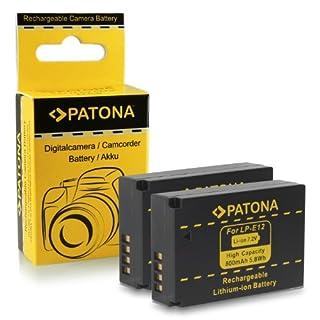 2x Batería LP-E12 para Canon EOS 100D | EOS M | EOS Rebel SL1 (B00G588YDQ) | Amazon price tracker / tracking, Amazon price history charts, Amazon price watches, Amazon price drop alerts