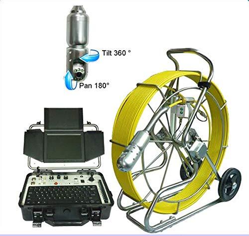 Gowe 50mm Video Kamera Abwasser Drainagerohr Inspektion Roboter mit 60m Faser Glas Kabel Sensor Größe: 1/10,2cm; horizontale Auflösung: 700TVL; Signal System: NTSC
