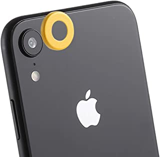 Camera Lens Protector Rear Camera Lens Protection Ring Cover with Eject Pin for iPhone XR (Black) HD Anti-Scratch (Color : Yellow)