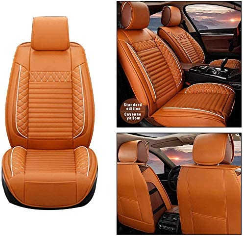 Super sale period limited Maite Front Car 2021 model Seat Covers for MKS Lincoln 2Pcs PU Leather