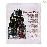 CafePress Firefighter Prayer Throw Blanket Soft Fleece Throw Blanket, 50'x60' Stadium Blanket