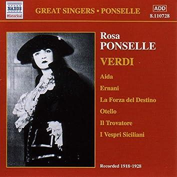 Ponselle, Rosa: Rosa Ponselle Sings Verdi (1918-1928)