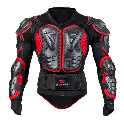 GITVIENAR Motorrad Schutz Jacke Motorrad Weste Brustpanzer Protektorenjacke mit Rückenprotektor Scooter MTBfür Mountainbike&Motorradfahren& Radfahren&Skateboarden