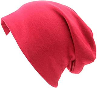 American Trends Unisex Men & Women Slouchy Cotton Beanie Soft Sleep Cap Skullcap for Hairloss Cancer Chemo
