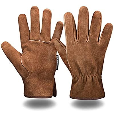 Leather Work safety Gloves for Heavy Duty welding Truck Driving Warehouse Gardening Farm Men and Women washable