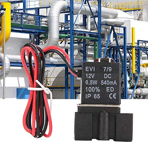 ?  ?Elektrisk magnetventil, DC12 V 1/8 tum NPT 2-vägs plast elektromagnetventil NC, normalt stängd