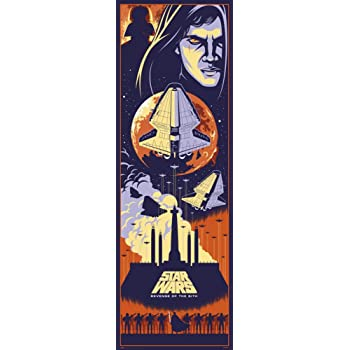 Amazon Com Star Wars Episode Iii Revenge Of The Sith Door Movie Poster Anakin Skywalker Darth Vader Pop Art Design Size 21 X 62 Inches Posters Prints