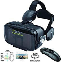 Best VR Headset Virtual Reality Headset 3D Glasses with 120°FOV, Anti-Blue-Light Lenses, Stereo Headset, for All Smartphones with Length Below 6.3 inch Such as iPhone & Samsung HTC HP LG etc. Review
