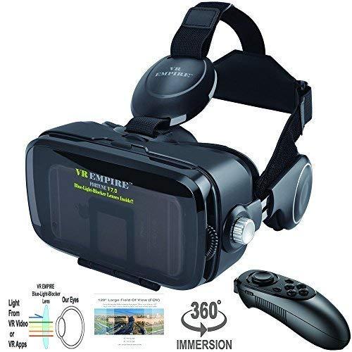257af1bbd97c Amazon.com  VR Headset 3D Glasses with VR Controller Remote 120° FOV ...