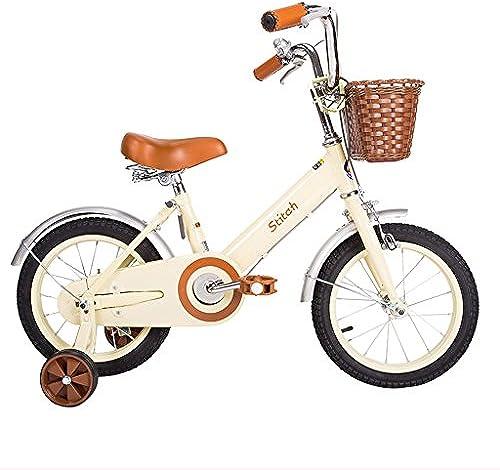 Kinder fürrad 12 14 16 18 Zoll mädchen fürrad 2-5 3-6 5-9 8-13 Jahre alten Kinderwagen High Carbon Steel, WeißRosa