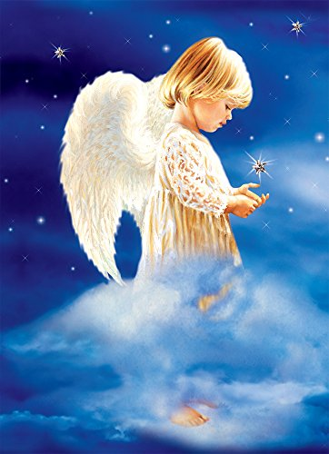 "Tree-Free Greetings Christmas Cards and Envelopes, Set of 10, 5"" x 7"", An Angel's Gentleness (HB93345)"