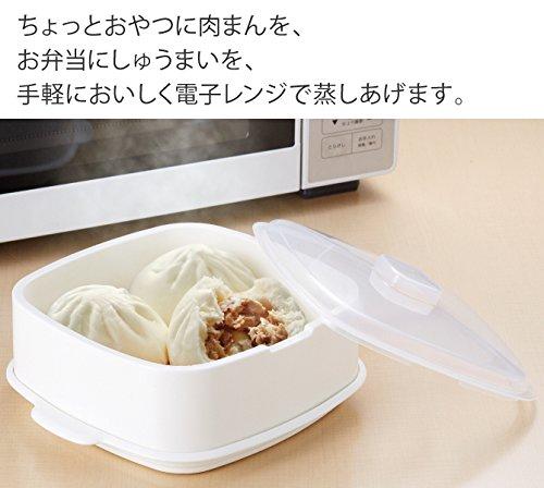 セイエイ (Seiei) 蒸し器 ホワイト 内径:19×19㎝ MUSHI-TARO 18534