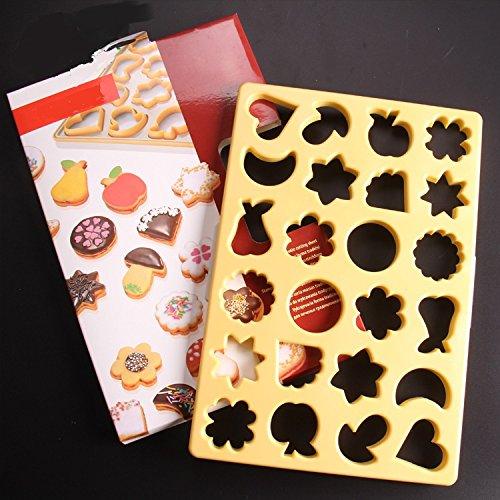 ElecMotive 24 teiliges Ausstechschablone Cookie Cutters Plätzchenformen Backformen Fondant Keks Ausstechformen DIY Kerzenformen