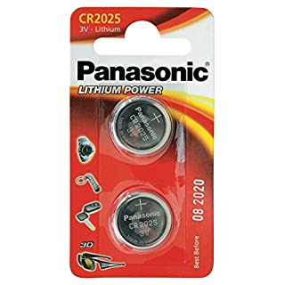 Panasonic CR2025 Specialist Lithium Coin Battery (Pack of 2) (B000KZCQ34) | Amazon price tracker / tracking, Amazon price history charts, Amazon price watches, Amazon price drop alerts