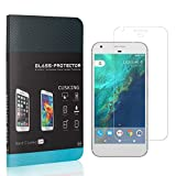 CUSKING Screen Protector Compatible with Google Pixel, Ultra Thin, Anti Fingerprint Tempered Glass Screen Protector for Google Pixel, Bubble Free, 4 Pack
