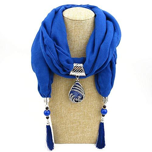 Schal Damen Anhänger Halskette Schal Schmuck Für Damen Luxus Polyester Baumwolle Schals Halstuch Farbe 4