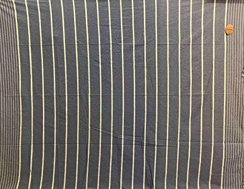 Gitiesse Karma - Manta Grande 100% algodón a Rayas, 210 x 250 cm