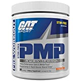 GAT Sport PMP Peak Muscle Performance, Stimulant Free, Creatine Free, Orange Cream, 30 Servings