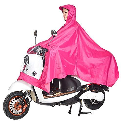 Poncho impermeable para lluvia, unisex, para exteriores, bicicleta, motocicleta, scooter o ciclismo, chaqueta de lluvia, poncho, protección completa con visera, tamaño XXXXL