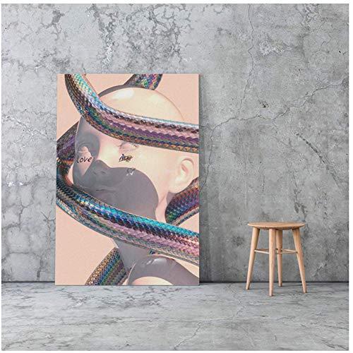 NRRTBWDHL Vaporwave Art Aesthetic Modern Canvas Poster Malerei Wandkunst Dekor Wohnzimmer Schlafzimmer Studie Home Decoration -50X70Cm No Frame