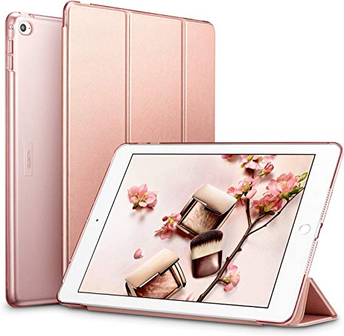 ESR Case for iPad 2 3 4, Ultra-slim Lightweight Smart Case with Trifold Stand and Auto Sleep/Wake Function,Translucent Frosted Back Cover, Rose Gold