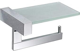 Volledige koperen papierhouder hotel hotel glazen plank mobiele telefoon papieren handdoekhouder badkamer toiletrolhouder ...