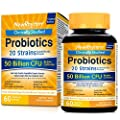 NewRhythm Probiotics 50 Billion CFU 20 Strains, 60 Veggie Capsules, Targeted Release Technology, Stomach Acid Resistant, No Need for Refrigeration, Non-GMO, Gluten Free from NewRhythm