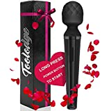Toolodge Personal Wand Massager, Whisper Quiet, Rechargeable, Cordless, Powerful, Water-Resistant with Multiple Patterns and Speed, Perfect for Back and Neck Muscle Relief, Soreness, Recovery - Black