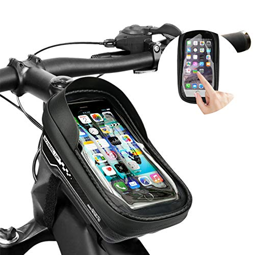 Bestfire Bike Frame Bag Waterproof Bicycle Front Top Tube Pouch Bag with Touch Screen Phone Holder Cycling Gifts for Men