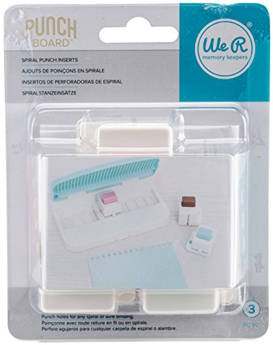 We R Memory Keepers Tools Insertos De Espiral Planner Punch Board, 20 x 13 x 8 cm