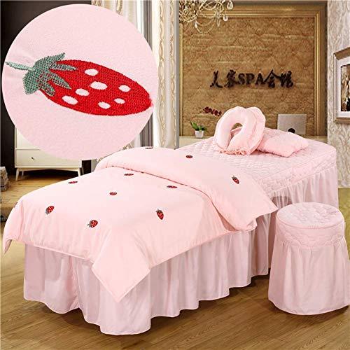 KSWD Stickerei Baumwolle Beauty-Bett-Abdeckung 4-stück Europäische...