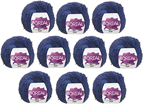 Hilo de Lana rizada para Tejer Crochet Ganchillo o Punto Torrijo BOREAL 50g, Ovillo de Lana Suave de...