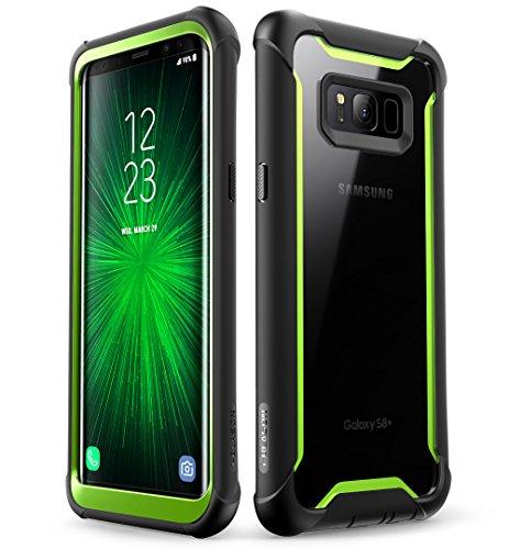 i-Blason Samsung Galaxy S8 Hülle, [Ares] Handyhülle Ganzkörper Schutzhülle Robustes Schale Hülle Klar Cover mit Gürtelclip ohne eingebautem Bildschirmschutz für Galaxy S8, Schwarz/Grün