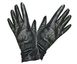 Pariella TM weich und geschmeidig DAMEN QUALITÄT schwarze Lederhandschuhe-S