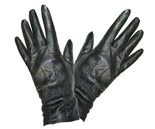 Pariella TM weich und geschmeidig DAMEN QUALITÄT schwarze Lederhandschuhe-M
