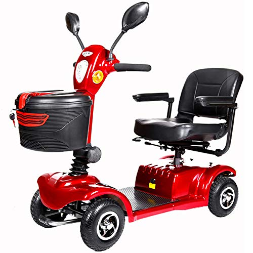 Scooter, Mini 4 Ruedas del Vehículo Eléctrico De Tres Ruedas Scooter Inteligente Silla De Ruedas Eléctrica 3 Rotación del Asiento Plegable E-Scooter para Adultos Y Viejo