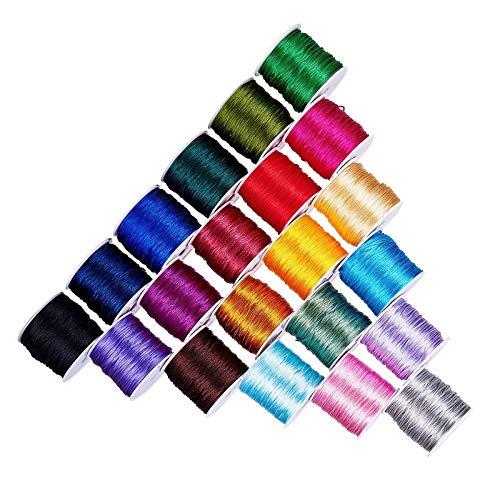 RENSHENKTO Seda de la secuencia de Rattail del cordón del ajuste del satén del color 21 para el collar trenzado