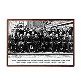 Suuyar Einstein In Solvay Konferenz 1927 Physiker Leinwand